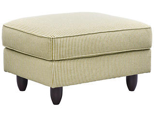 Stripes Ottoman, Chartreuse, large