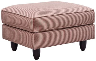 Stripes Ottoman, Red, swatch
