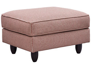 Stripes Ottoman, Red, large