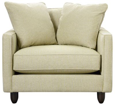 Stripes Chair and 1/2, Chartreuse, swatch