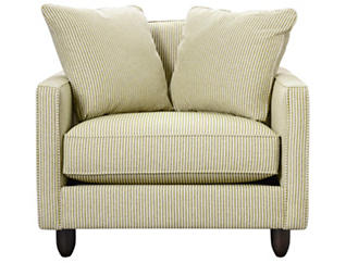 Stripes Chair and 1/2, Chartreuse, large
