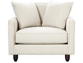 Stripes Chair and 1/2, Ivory, large