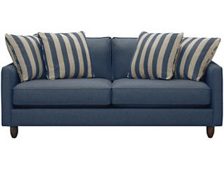 "Stripes 80"" Sofa, Blue, large"