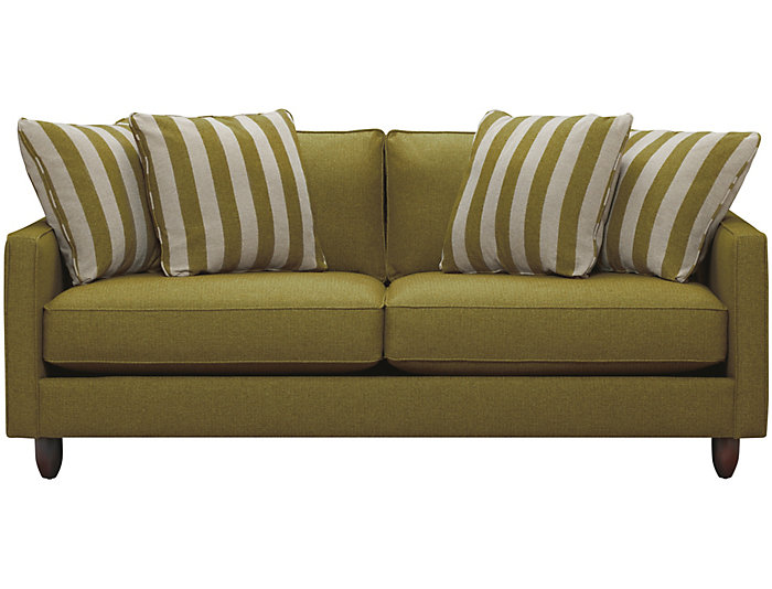 "Stripes 80"" Sofa, Chartreuse, Chartreuse, large"