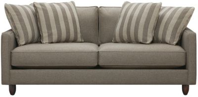 "Stripes 80"" Sofa, Granite, swatch"