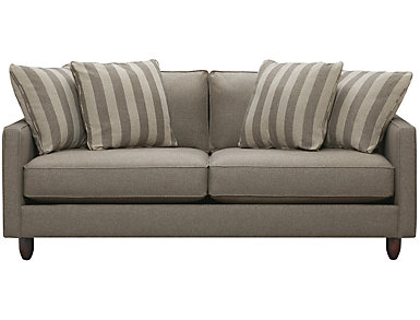 "Stripes 80"" Sofa, Granite, large"