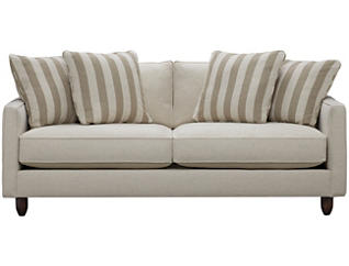 "Stripes 80"" Sofa, Ivory, large"