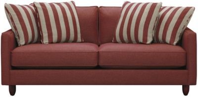 "Stripes 80"" Sofa, Red, swatch"