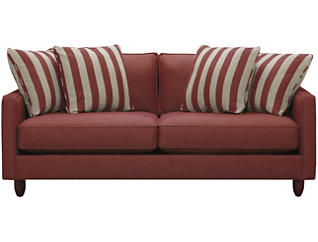 "Stripes 80"" Sofa, Red, large"