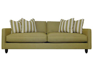 Stripes Sofa, Chartreuse, large