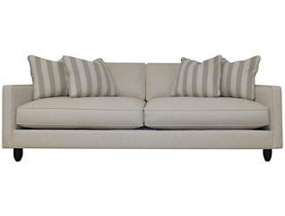 Stripes Sofa, Ivory, large