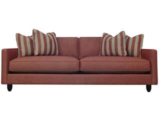 Stripes Sofa, Red, large