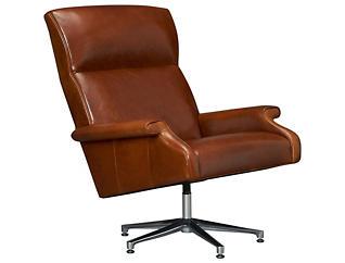 Abbott Leather Swivel Chair, , large