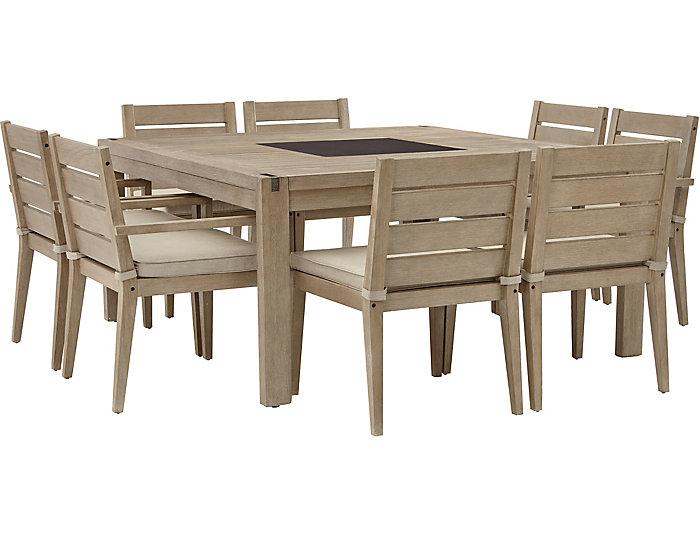 Nigel Barker 9pc Dining Set, , large
