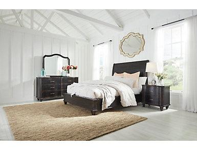 Lauren Queen Sleigh Bed, , large