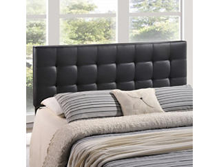 Lily Black Full Headboard, , large