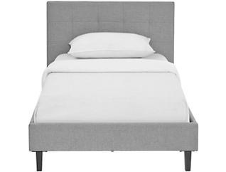 Linnea Twin Bed, Light Grey, large