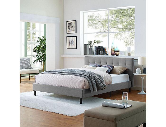 Linnea Queen Light Grey Bed, , large