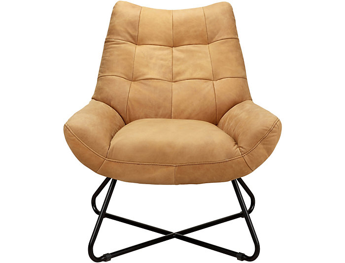 Romeo Tan Leather Chair, , large