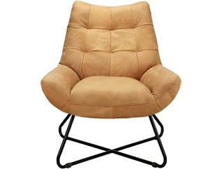 Romeo Leather Chair, Tan, large