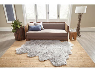 "Sable Grey 5'3"" x 6'7"" Rug, Grey, large"