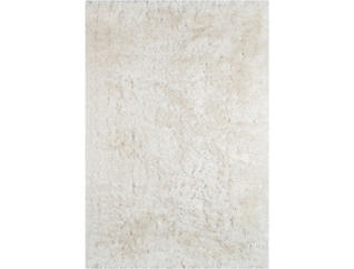 White Snow Shag 5X7 Rug, , large