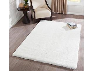 White Velvet Shag 5'x 7' Rug, , large