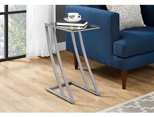 Zane Silver End Table, , large