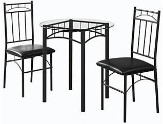 Allen Black 3-Pc Dining Set, , large