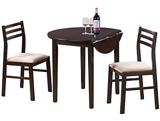 Kip Brown 3-Piece Dining Set, , large