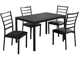 Lou Black 5-Piece Dining Set, , large