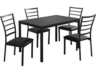 Lou Black 5-Piece Dining Set, , large