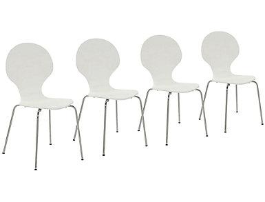 Igor White Chair Set of 4, , large