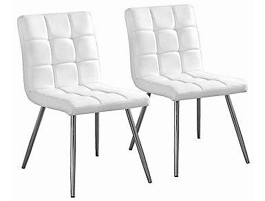Bruckner White Chair Set of 2, , large