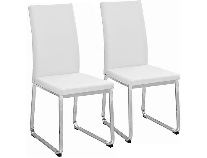 Berg White Side Chair Set Of 2 Large