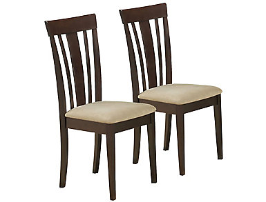 Chopin Brown Chair Set of 2, , large