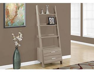 "Harry 69"" Taupe Ladder Shelf, Taupe, large"