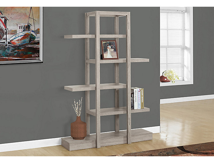 "Cormac 71"" Taupe Bookcase, , large"