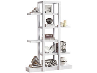 "Cormac 71"" White Bookcase, , large"