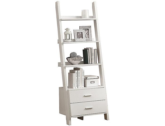 """Harry 69"""" White Ladder Shelf, , large"""
