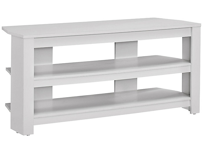 Ode 42 White Corner Tv Stand