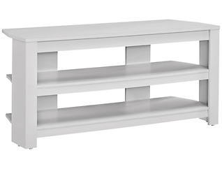 "Ode 42"" White Corner TV Stand, , large"