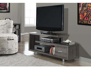 "Fox 60"" Taupe TV Stand, Taupe, large"