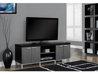 "Rex 60"" Black TV Stand, Black, large"