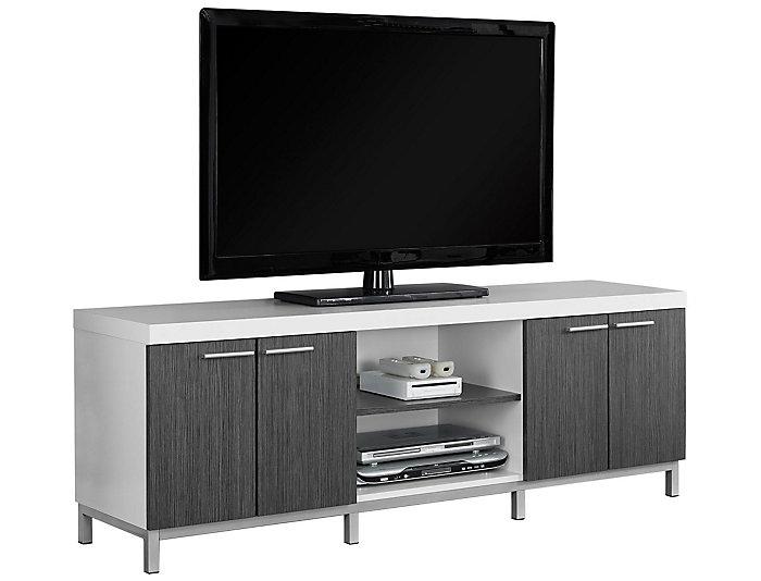Rex 60 White Grey Tv Stand