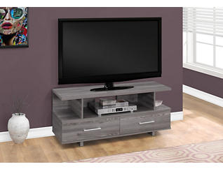 "Indio 48"" Grey TV Stand, Grey, large"