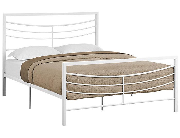 White Queen Metal Bed | Art Van Home
