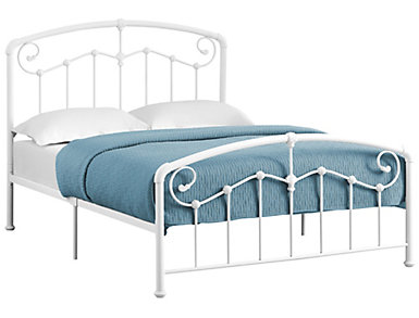 White Full Metal Bed, , large