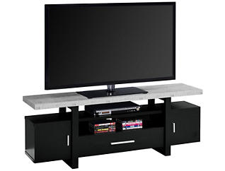 Crowley Black TV Stand, Black, large