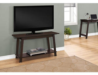 """Haven 42"""" Brown TV Stand, Brown, large"""
